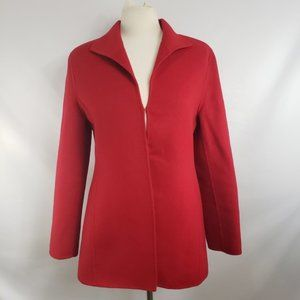 Valerie Stevens Jackets & Coats - Valerie Stevens Red Wool Angora Cashmere Blazer